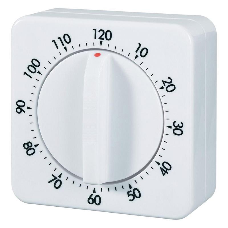 Minuteur m canique 120 minutes petits mat riels divers minuteurs compteurs chronom tres - Minuteur 7 minutes ...
