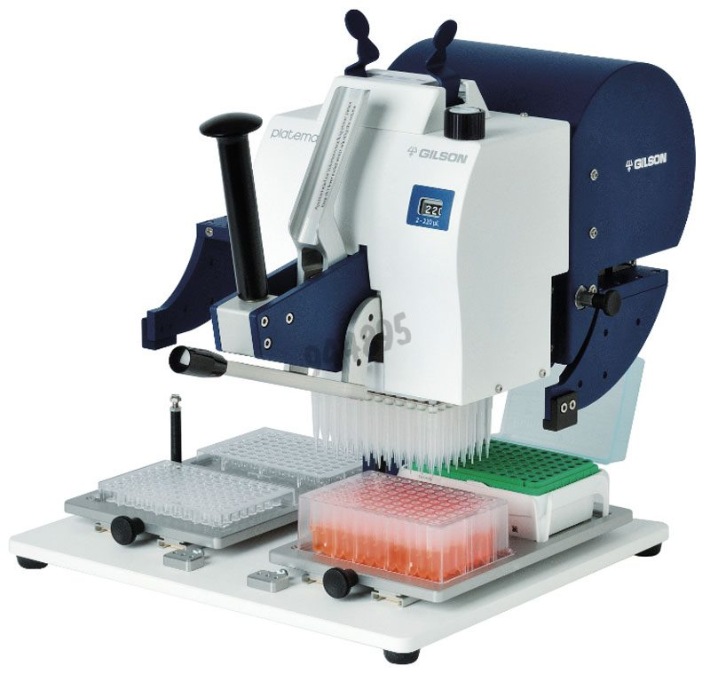 Platemaster Pipetting system 220 µl - Volume 2 to 220 µl can be adjusted in 1 µl increments