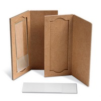 Cardboard pouch for slides