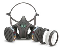 MOLDEX Masks with gas filter cartridges permanently mounted to the facepiece - Series 8000