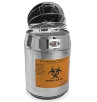Stainless Steel Benchtop Biohazard Dosposal Can