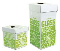 Cardboard disposal carton for glass