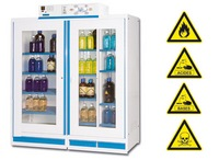 Safety cabinets with ventilation and filtration system