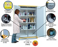 Multirisk safety storage tall and underbench cabinets, 30 min. fire resistance (EN 14470-1 & FM)