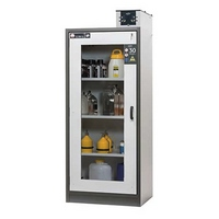 Safety storage cabinet with large glass cutout, fire resistant 30 min. (NF EN 14470-1)