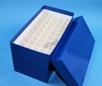 Long water-repellent cardboard (covered with a plastic film) freezer box - dimensions 122 x 237 x 128 mm - 5 x 10 compartments - Blue - <i><br>PROMOTION valid from 1/1/19 to 12/31/19 according to the conditions of the offer</i>